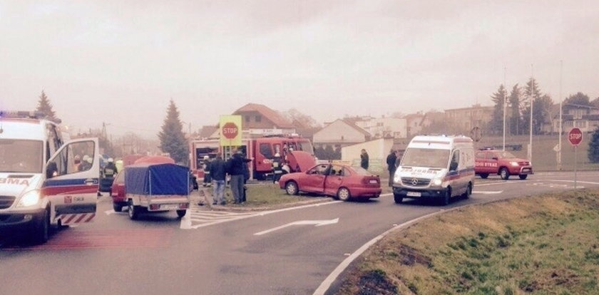 Groźny wypadek na Opolszczyźnie. Są ranni!