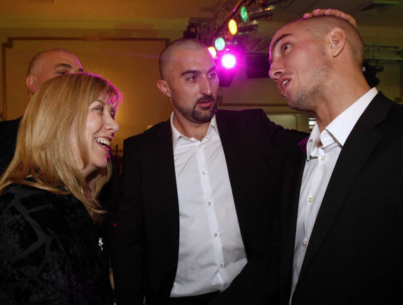 Snežana Samardžić-Marković sa Nenadom Zimonjićem i Viktorom Troickim