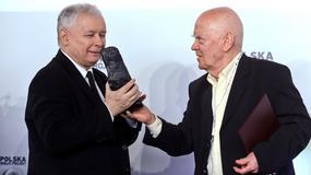 Jarosław Kaczyński wręczył Rymkiewiczowi nagrodę im. L. Kaczyńskiego