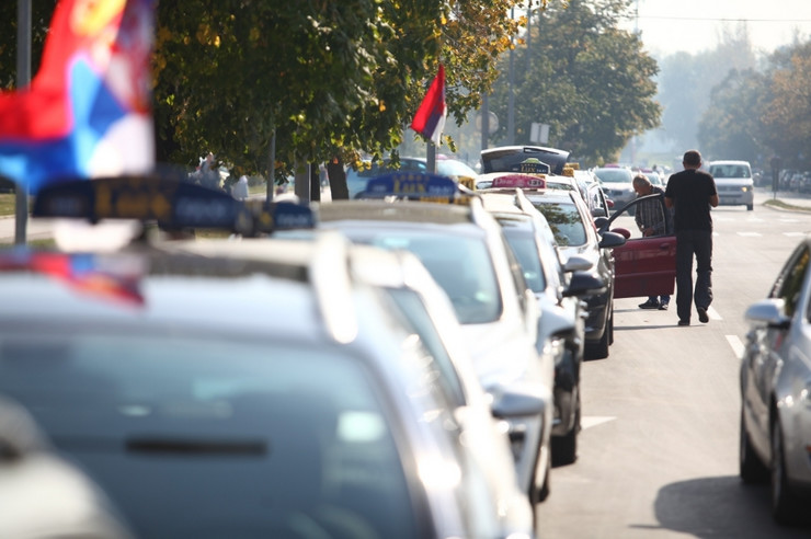 taksi protest 11. dan