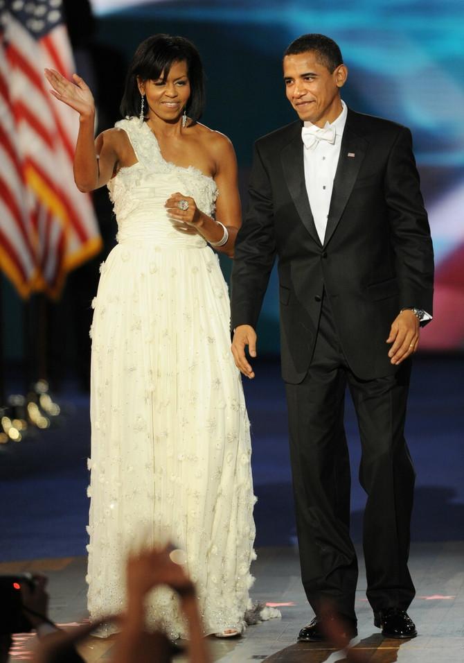 Mišel Obama na inauguracionom balu 2009. godine