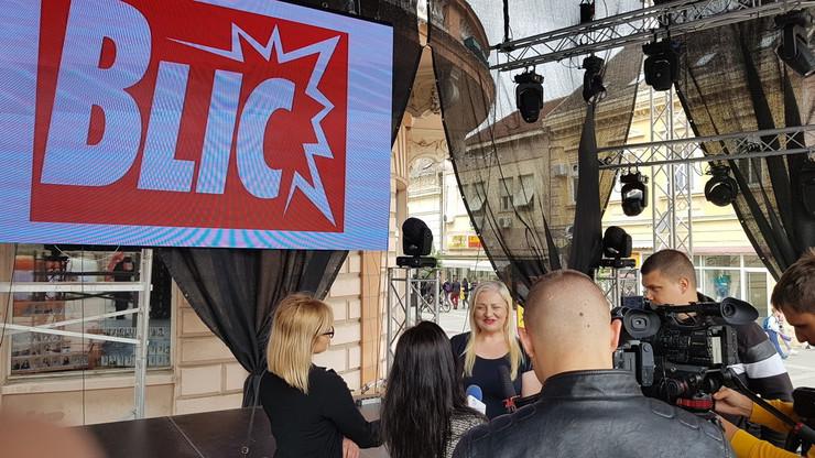 Detalj sa Igara 2019 iza logo Blic