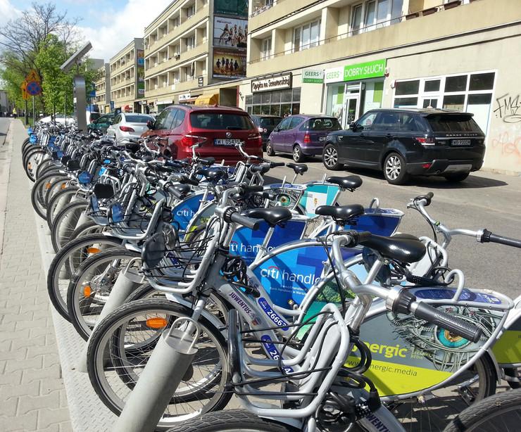 Varsava parking za bicikle