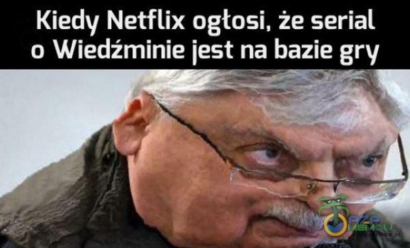 """Serial """"Wiedźmin"""": memy internautów. Tak żartują z produkcji Netflixa"""