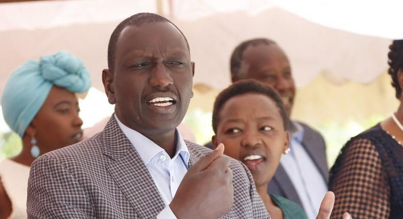 DP William Ruto with his wife during a New Year's service in Uasin Gishu (Twitter)