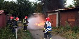 Płonęły garaże na Tysiącleciu