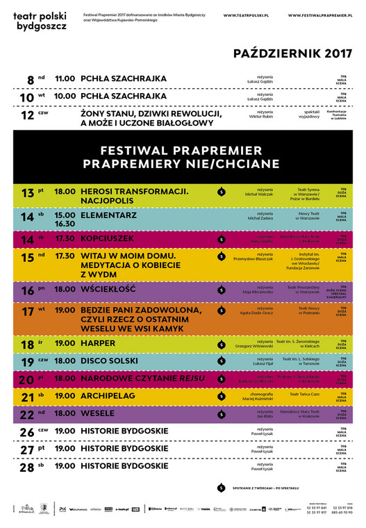 Program Festiwalu Prapremier