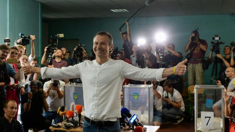 Ukrainian rock star Svyatoslav Vakarchuk only set up his party Golos (Voice) in May