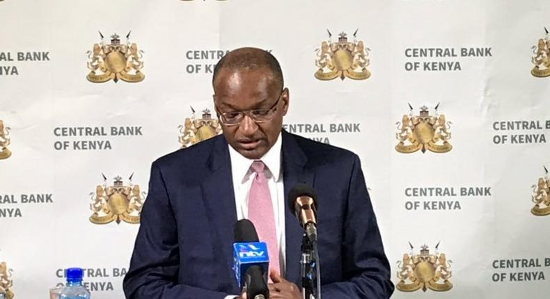 CBK Governor patrick Njoroge during a past press briefing (Twitter)