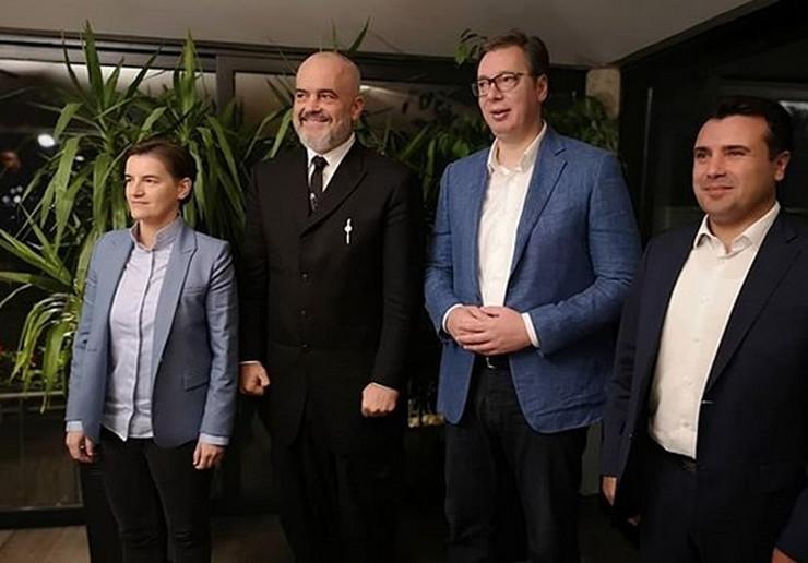 Vučić sa Ramom i Zaevim