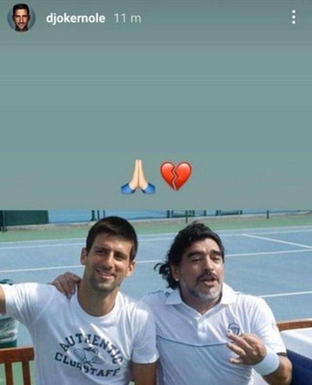 Novak Đoković i Dijego Maradona