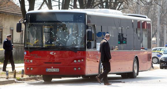 Autobus u koji je Stevanović ubacio bombu