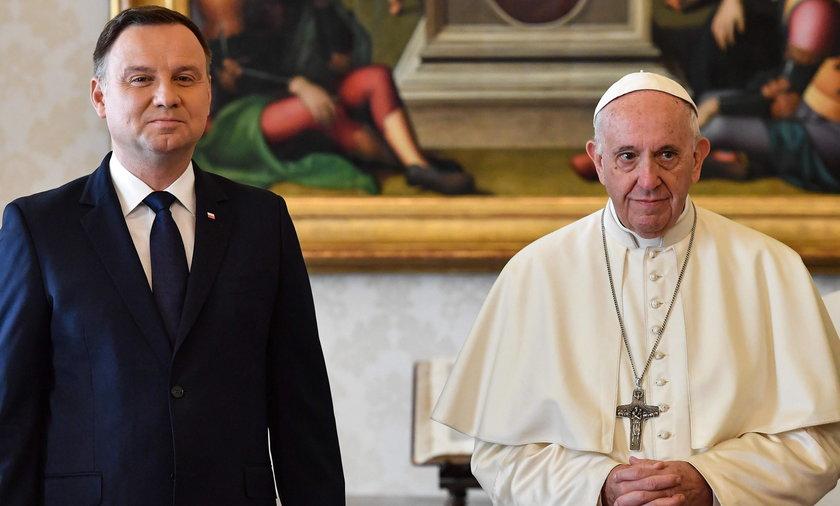 Prezydent zaprosił papieża do Polski na 100. rocznicę odzyskania niepodległości.