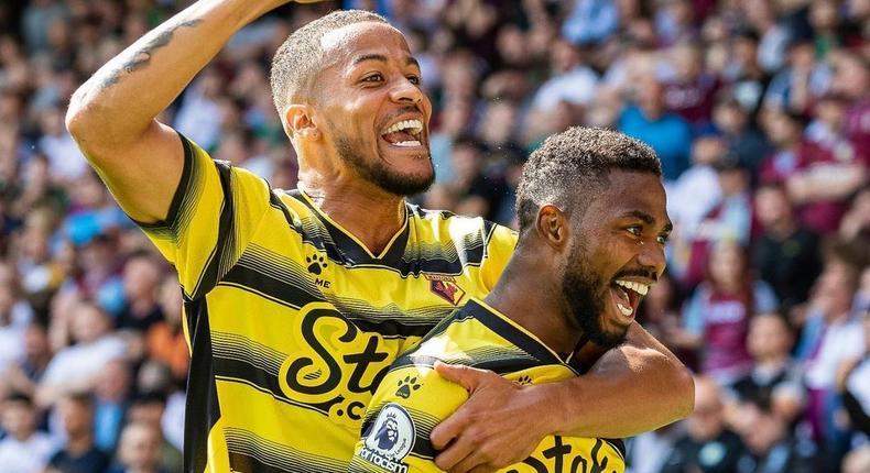 William Troost-Ekong and Emmanuel Dennis starred as Watford beat Aston Villa on Premier League return  (Instagram/Watford)