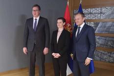 Tusk sa srpskim zvaničnicima, Vučić poručuje: Nastavak dijaloga ako Priština povuče nerazumne odluke