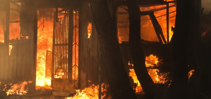 Wielki pożar w popularnej miejscowości turystycznej. Zarządzono ewakuację