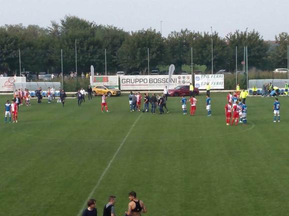 Trenutak kada je na utakmici Vojvodina - Breša došlo do gužve