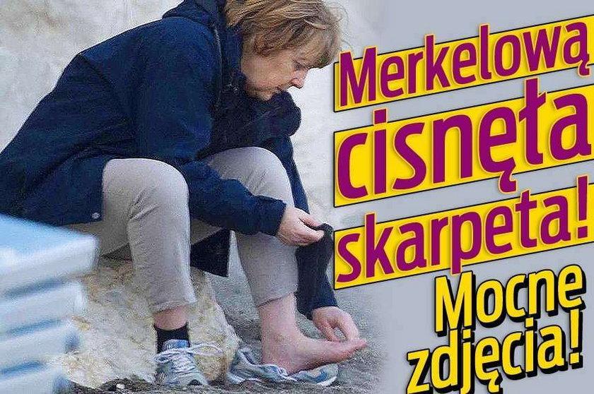 Merkelową cisnęła skarpeta. MOCNE ZDJĘCIA