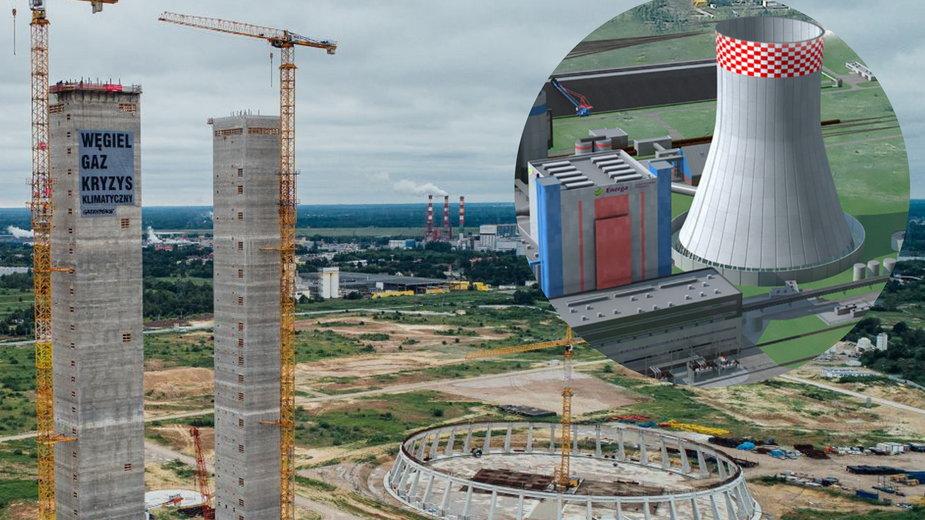 Budowa w Ostrołęce i wizualizacja ukończonej elektrowni