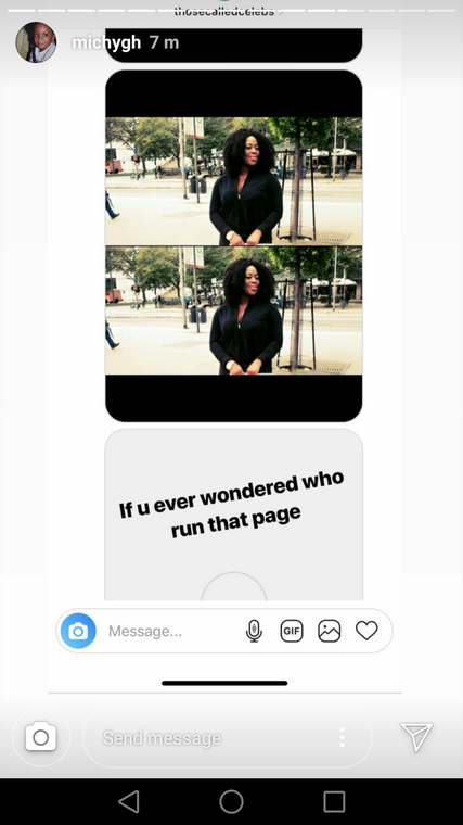 Insta-story screenshot