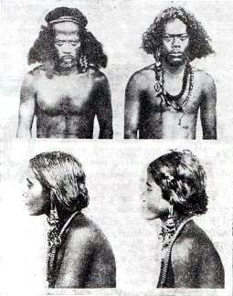 Mieszkańcy wyspy Truk, fot. Jan Kubary