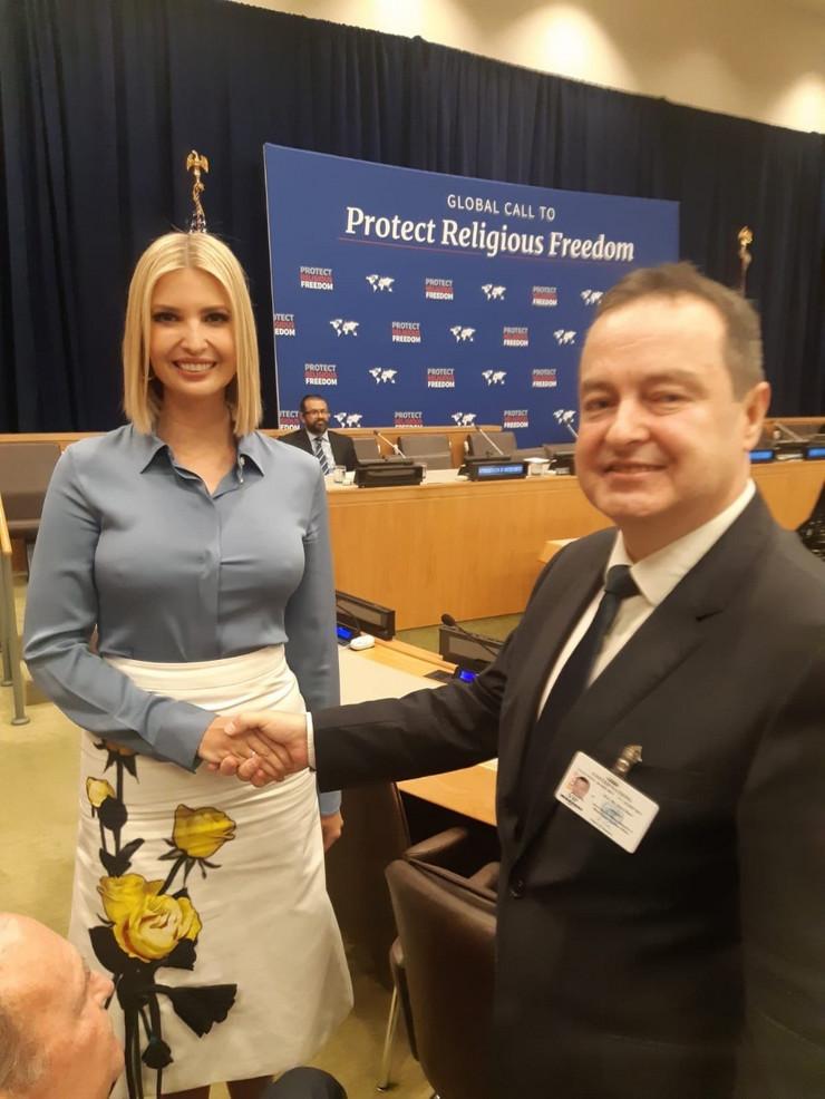 Ivica Dačić i Ivanka Tramp