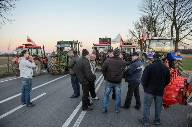 Chromna (woj. mazowieckie). Blokada zorganizowana przez rolników