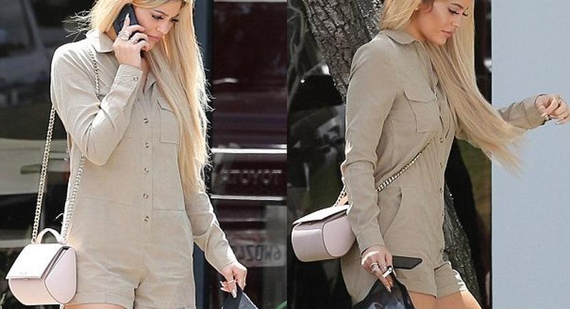Reality star, Kylie Jenner, shows up for the Kardashian app launch, blonde