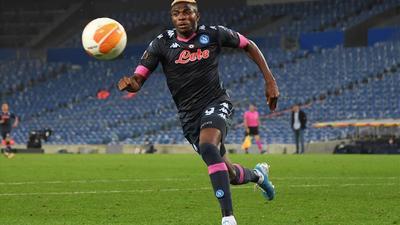 Europa League: Osimhen sees red, Balogun impresses while Peter Olayinka scores