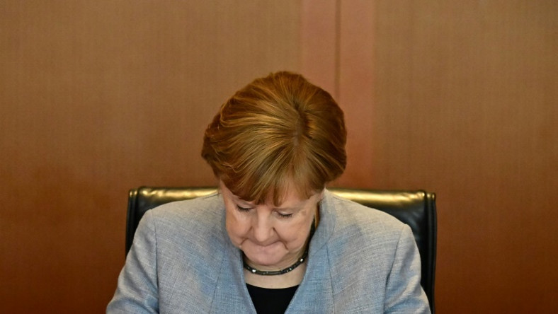 "Some are calling German Chancellor Angela Merkel's arms exports policy ""unpredictable"""