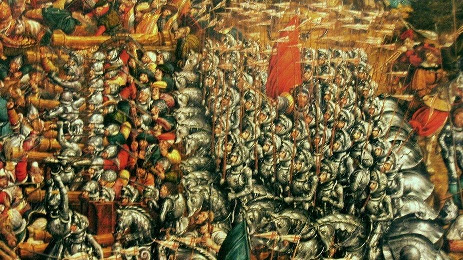 Jazda zaciężna pod Orszą Pod Grunwaldem zaciężni stanowili jeszcze mniejszość, ale w XVI wieku stali się kluczowym elementem armii (domena publiczna)