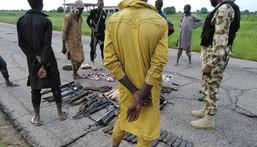 Illustrative photo: Boko Haram terrorists surrender to troops in Bama, Borno State [Nigerian Army]