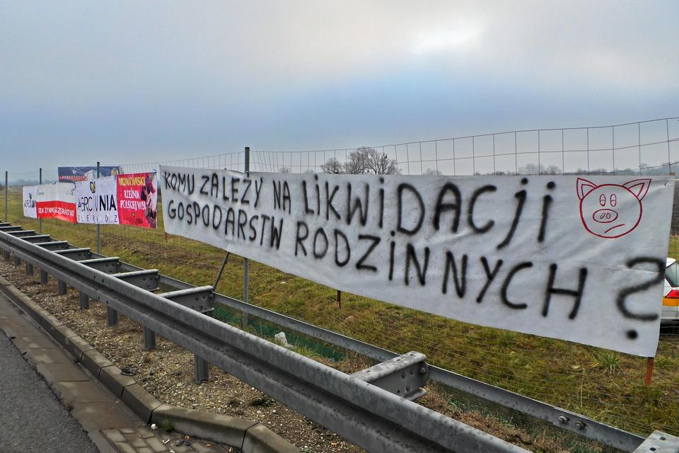 Protest na autostradzie A2