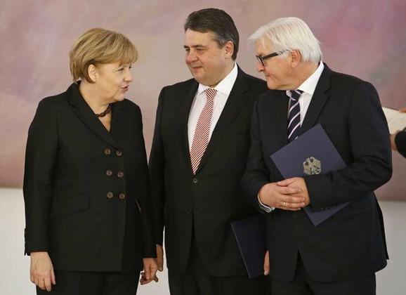Jaka trojka nemačke vlade: Angel Merkel, Zimbar Gabrijel i Frank Valter Štajnmajer