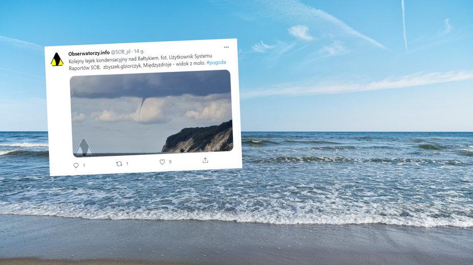 W poniedziałek na Pomorzu Zachodnim pojawiły się trąby wodne