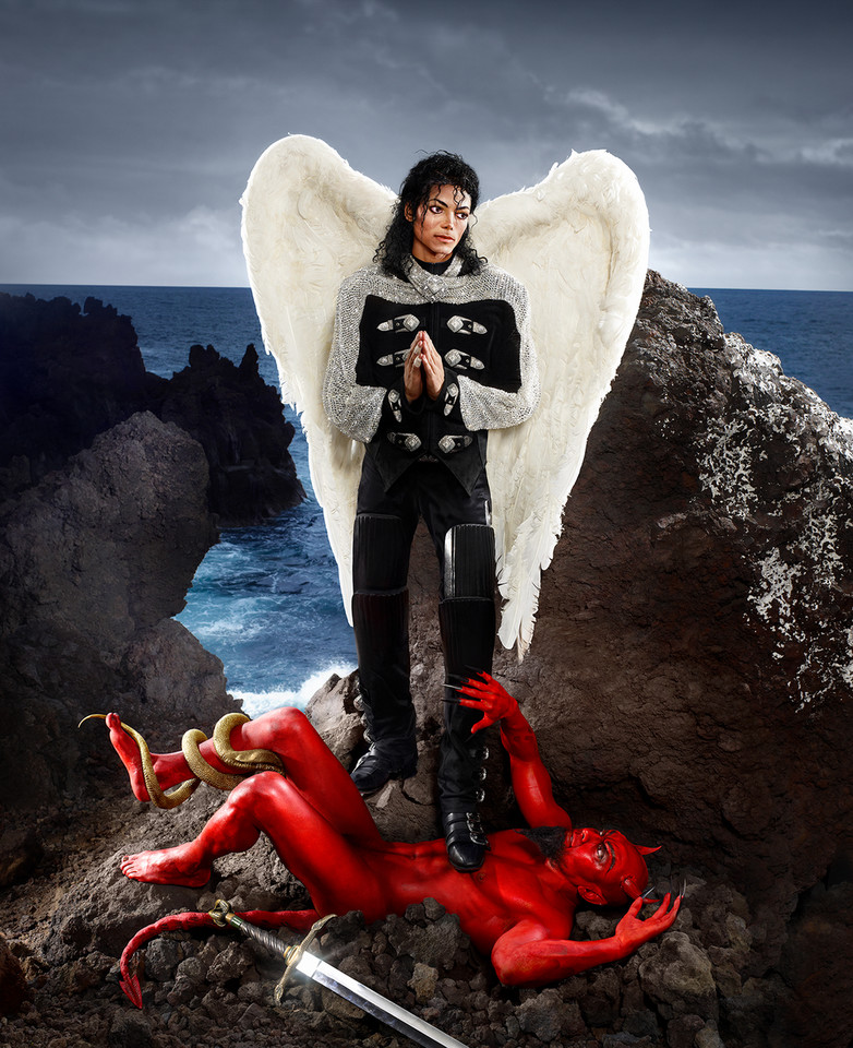 "David LaChapelle, ""Archangel Michael: And no message could have been any clearer"" (2009)"