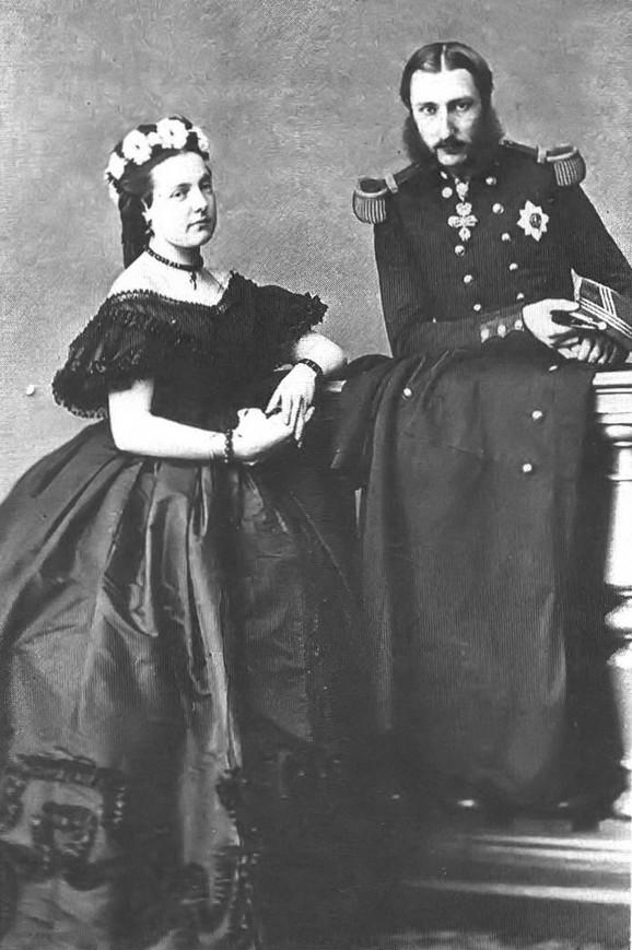Leopold II sa suprugom Marijom Henrijetom