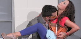 Anna Mucha całowana przez...