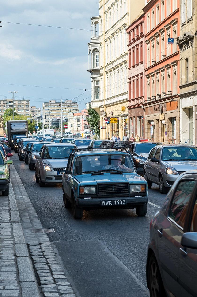 Korek na ul. Ruskiej we Wrocławiu