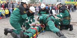 Pokazy ratowników górniczych w CSRG w Bytomiu