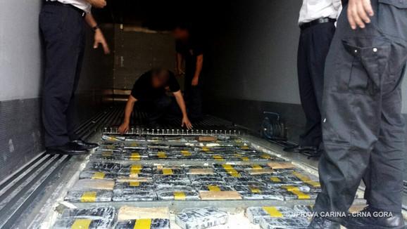Zaplijenjeni kokain 250 kg