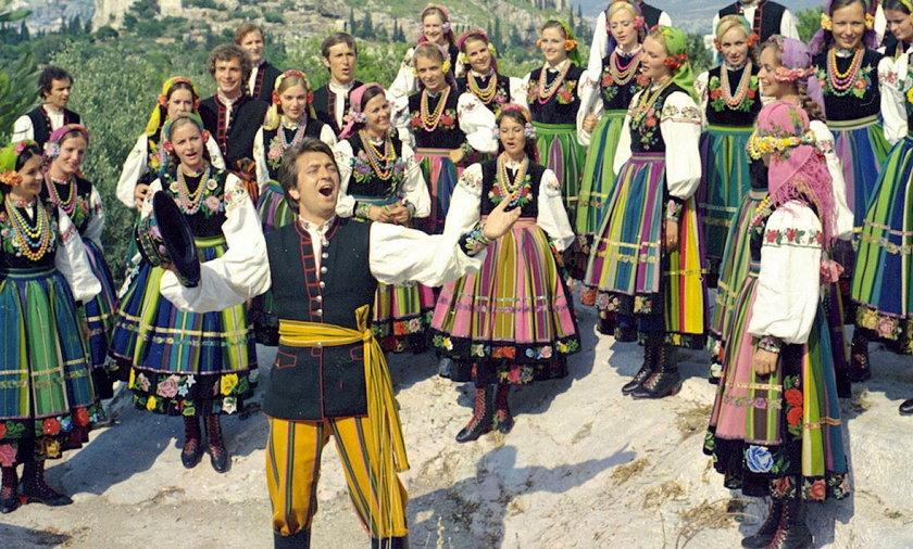 Zespół Mazowsze na występach w Grecji w 1984 r.