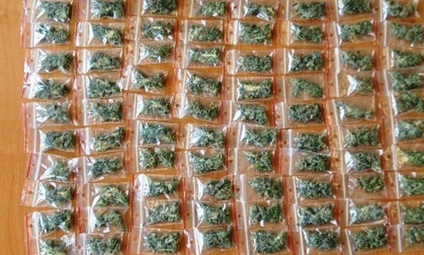 Marihuana w tornistrze. Wpadka szkolnego dilera.