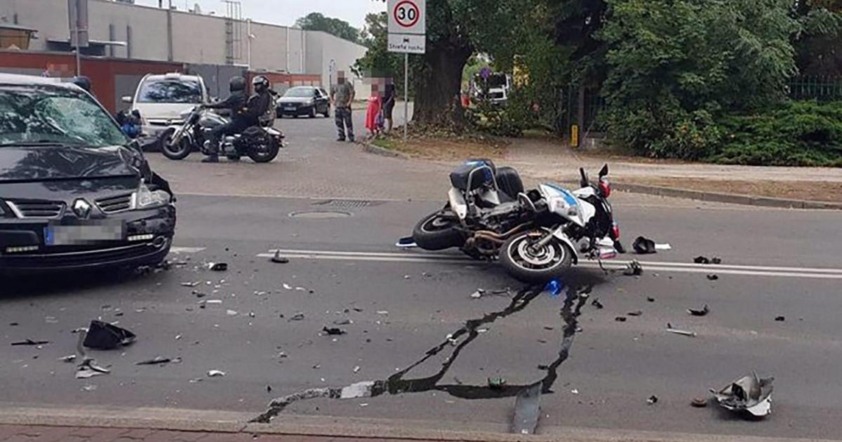 Wypadek motocyklowy brutalne fakty