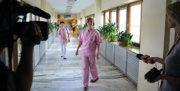 Przedstawicielka strajkujących pielęgniarek Magdalena Nasiłowska