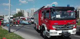 Tragiczny wypadek w Krakowie. Motocyklista zderzył się z seicento