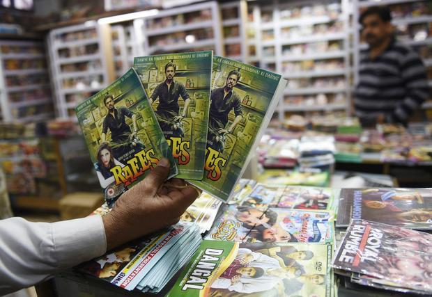 Sklep z płytami w Indiach
