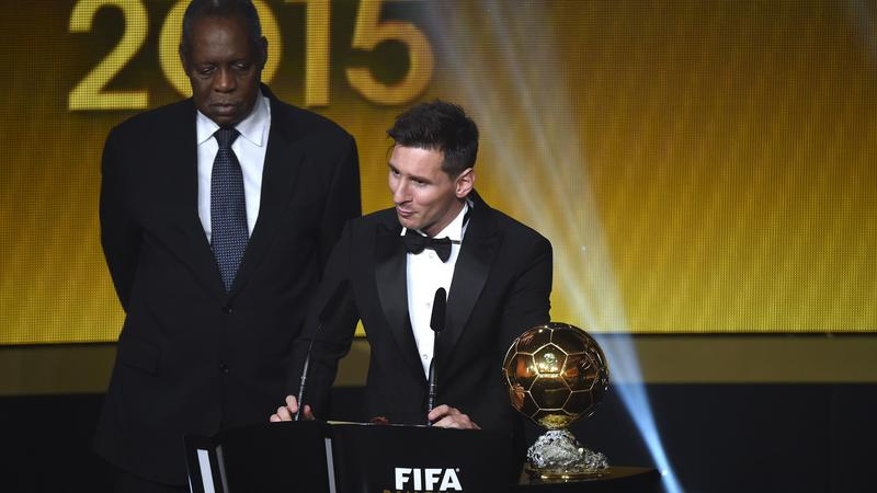 Lionel Messi piłkarzem roku 2015