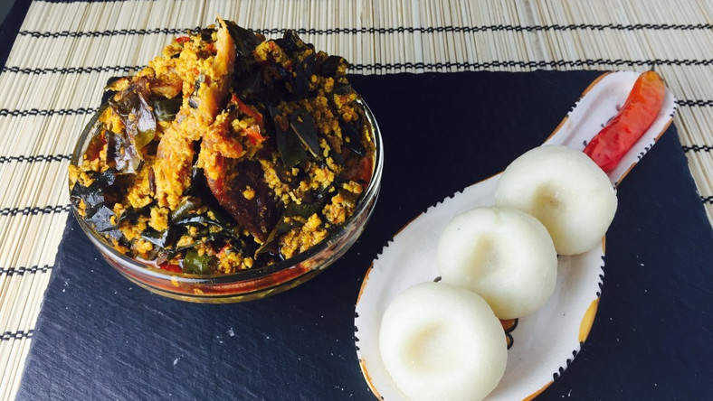 Traditional meals: Fingerlickin' fufu and egusi soup (Recipe)