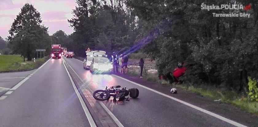 Pędził na motocyklu, prawie dogonił śmierć